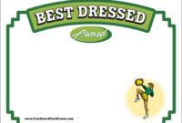 Best Dressed Certificate – Cheerleading Award Templates within Fresh Best Dressed Certificate