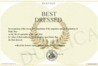 Best-Dressed for Fresh Best Dressed Certificate