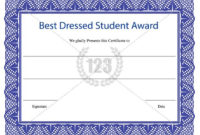 Best Dressed Student Award Certificate Template Download inside Best Dressed Certificate Templates