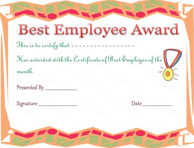 Best Employee Award Certificate In 2020 | Employee Awards With Happy New Year Certificate Template Free 2019 Ideas