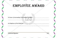 Best Employee Award Template Download Now within Best Employee Certificate Template