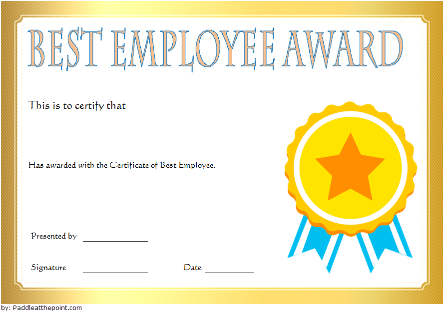 Best Employee Certificate Template 9 In 2020 | Employee for Unique Certificate Of Employment Templates Free 9 Designs