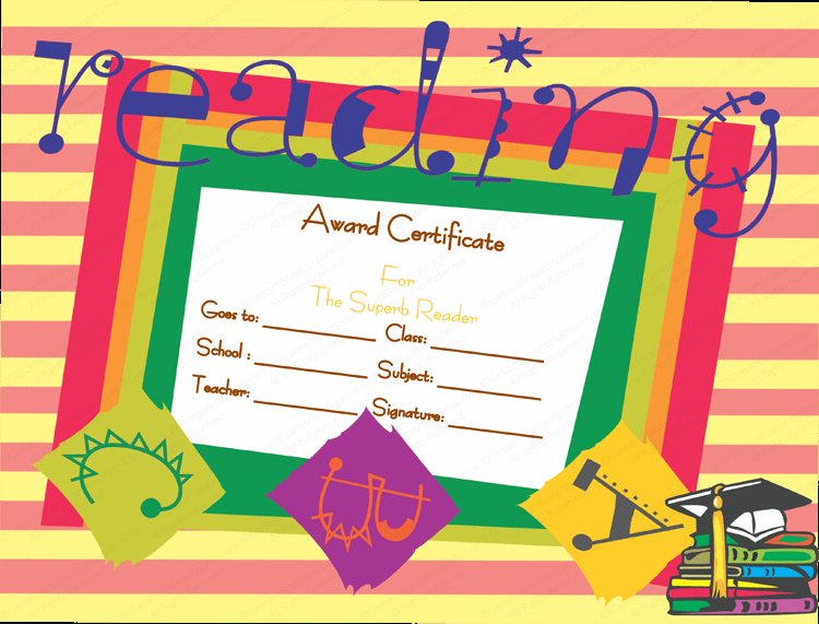 Best Reader Award Certificate Template With Regard To Reader Award Certificate Templates