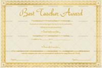 Best Teacher Award Certificate (Stars, #1240) throughout Fresh Best Teacher Certificate Templates