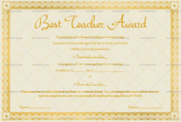 Best Teacher Award Certificate (Stars, #1240) within Unique Best Teacher Certificate