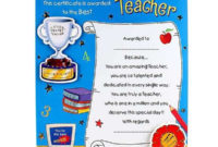 Best Teacher Certificate inside Unique Best Teacher Certificate