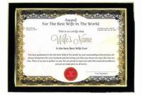 Best Wife Award Certificate Fresh Personalized Award with Best Best Wife Certificate Template
