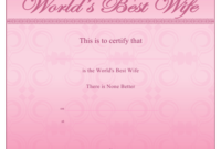 Best Wife Certificate Template Download Printable Pdf with regard to Best Best Wife Certificate Template
