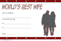 Best Wife In The World Certificate Free Printable 1 | Good throughout Best Wife Certificate Template
