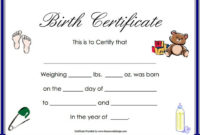 Birth Certificate Template 44 Free Word Pdf Psd Format regarding Amazing Teddy Bear Birth Certificate Templates Free
