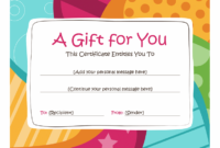 Birthday Gift Certificate (Bright Design) – Templates | Free with regard to Fresh Birthday Gift Certificate