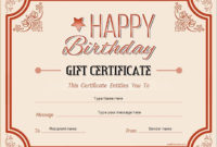 Birthday Gift Certificate For Ms Word Download At Http in Birthday Gift Certificate