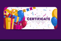 Birthday Gift Certificate Template Royalty Free Vector Image with Birthday Gift Certificate