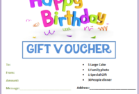 Birthday Gift Certificate Templates | Gift Certificate for Fresh Birthday Gift Certificate