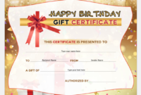 Birthday Gift Certificates For Ms Word | Word & Excel Templates with regard to Birthday Gift Certificate