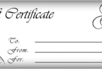 Black And White Gift Certificate Template Free (2 with Free 10 Fitness Gift Certificate Template Ideas