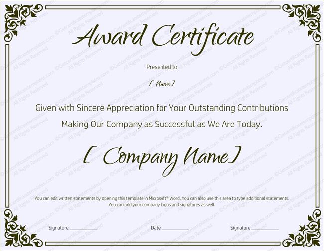 Blank Retirement Certificate Template - Editable And Printable Within Fresh Retirement Certificate Templates