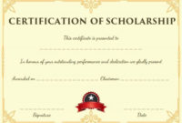 Blank Scholarship Certificate Template | Scholarships with 10 Scholarship Award Certificate Editable Templates