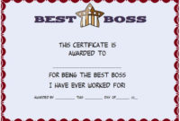 Boss Day Certificate Of Appreciation : 10+ Templates To in Worlds Best Boss Certificate Templates Free