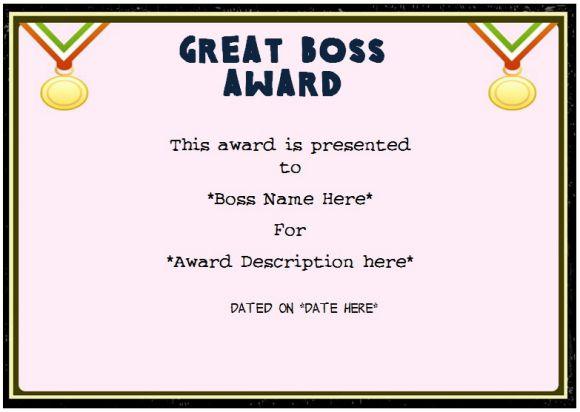 Boss Day Certificate Of Appreciation : 10+ Templates To Inside Fresh Worlds Best Boss Certificate Templates Free