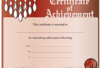 Bowling Achievement Certificate Printable Certificate in Bowling Certificate Template