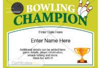Bowling Certificate, Bowling Trophy, Bowling Award, Bowling Shirt, Bowling  Award Certificates, Bowling Ball, Bowling Pin, Bowling Templates throughout Bowling Certificate Template