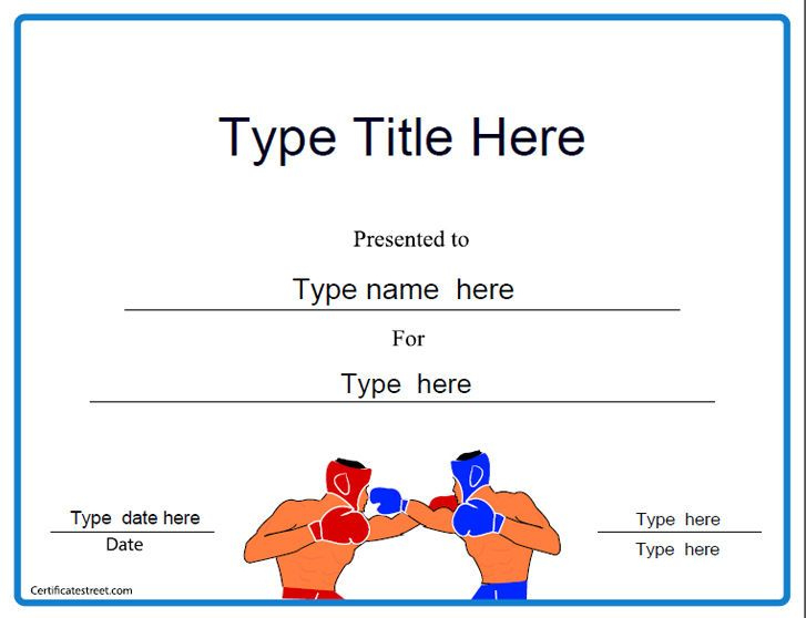 Boxing Certificates   Certificate Templates, Certificate regarding Unique Boxing Certificate Template
