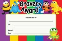 Bravery Award Certificates Children S Templates intended for Unique Bravery Award Certificate Templates
