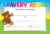 Bravery Award Certificates – Choice Of Designs – For Schools, Dentists,  Doctors, Nurses – Pack Of 16 pertaining to Bravery Award Certificate Templates