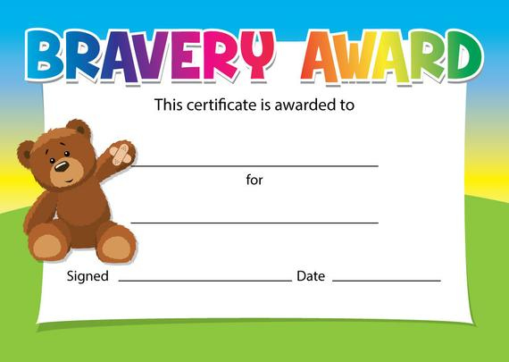 Bravery Award Certificates - Choice Of Designs - For Schools, Dentists,  Doctors, Nurses - Pack Of 16 Pertaining To Bravery Award Certificate Templates