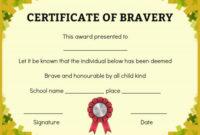 Bravery Certificate: 12 Free Printable Templates To Reward within Best Bravery Certificate Templates