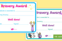 Bravery Certificate (Teacher Made) regarding Bravery Certificate Templates