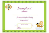Bravery Printable Award Certificate | Printable Activities for Bravery Certificate Template 10 Funny Ideas
