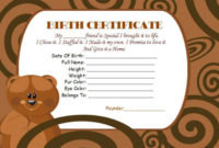 Build A Bear Certificate Template: 15 Attractive with regard to Amazing Teddy Bear Birth Certificate Templates Free