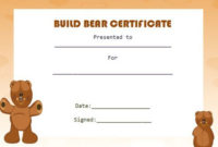 Build Bear Template | Birth Certificate Template in Amazing Teddy Bear Birth Certificate Templates Free