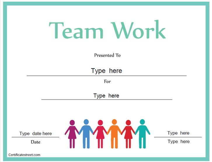 Business Certificate - Certificate For Good Teamwork Pertaining To Free Teamwork Certificate Templates