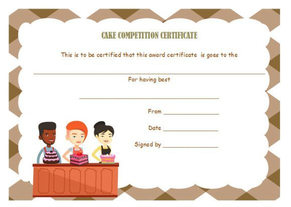 Cake Competition Certificates   Cake Competition, Recipe Regarding Fresh Bake Off Certificate Template
