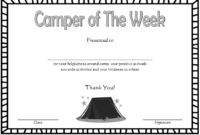 Camper Of The Week Certificate Template Free 1 Di 2020 with Best Certificate For Summer Camp Free Templates 2020