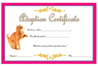 Cat Adoption Certificate Template Free 6 In 2020 | Birth for Cat Adoption Certificate Template