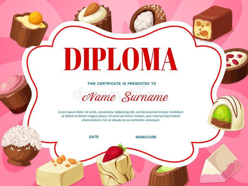 Certificate Chocolate Stock Illustrations – 482 Certificate In Cupcake Certificate Template Free 7 Sweet Designs