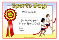 Certificate Clipart Sports Day, Certificate Sports Day with Best Sports Day Certificate Templates