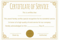 Certificate For 10 Years Of Service Template In 2020 | Award throughout Unique Travel Certificates 10 Template Designs 2019 Free