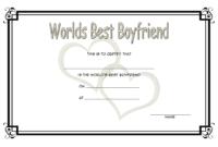 Certificate For Best Boyfriend Free Printable 1   Best with Best Boyfriend Certificate Template