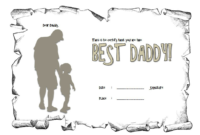 Certificate For Best Dad Free Printable 2 pertaining to Best Dad Certificate Template