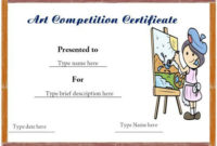 Certificate Format For Art Competition Winner | Certificate pertaining to Drawing Competition Certificate Templates