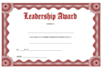 Certificate Leadership And Management Free Printable 3 throughout Outstanding Student Leadership Certificate Template Free