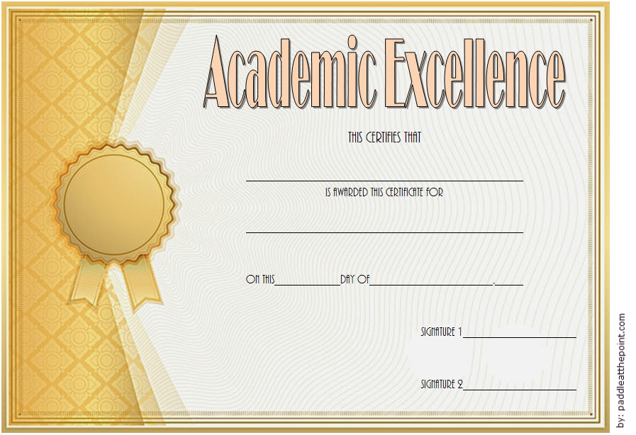 Certificate Of Academic Excellence Award Free Editable 1 In With Regard To Fresh Math Certificate Template 7 Excellence Award