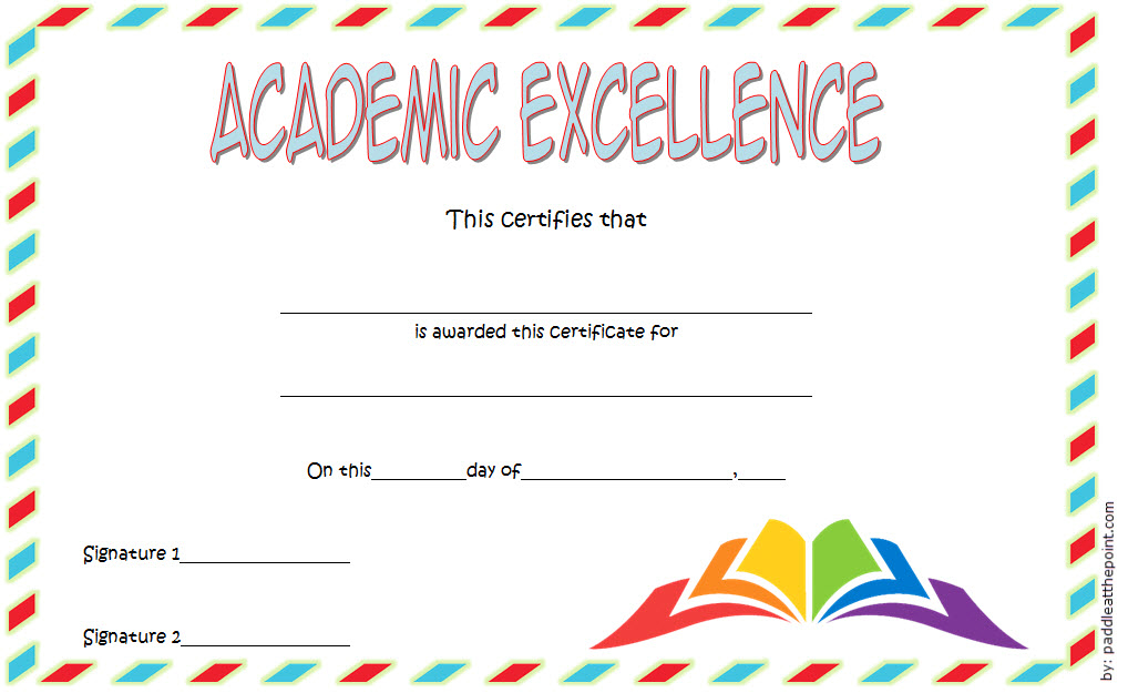 Certificate Of Academic Excellence Award Free Editable 3 With Regard To Certificate Of Academic Excellence Award