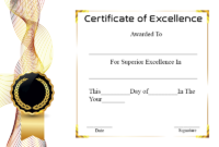 Certificate Of Academic Excellence | Certificate Template within Unique Academic Excellence Certificate