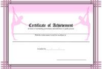 Certificate Of Achievement – Ballet Printable Certificate intended for Ballet Certificate Templates